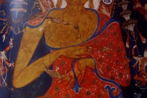 A Gold Figure of Buddha Shakyamuni