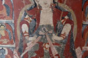 Bhuddhi sattva  holding victory umbrella