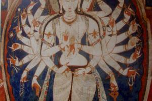 Mangu wall panting Avalikiteshvara