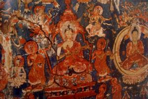 Shakyamuni Buddha in monk robe